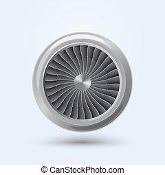moteur, vecteur, jet