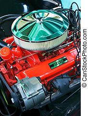 moteur, vendange, automobile