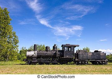 moteur, vieux, espace,  train, copie, vapeur
