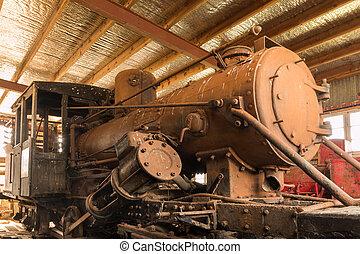 moteur, vieux, vapeur