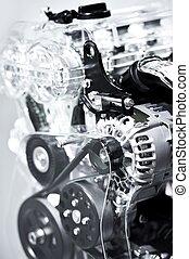moteur, voiture, closeup
