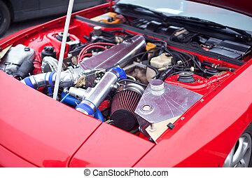 moteur, voiture, dérive