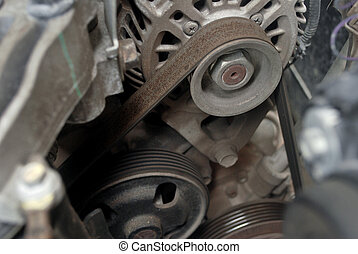 moteur, voiture, equipment., système, entretien, chèque, soin