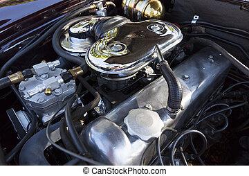 moteur, voiture,  retro, bloc