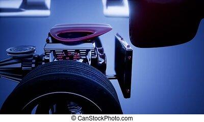 moteur, voiture, roues, châssis