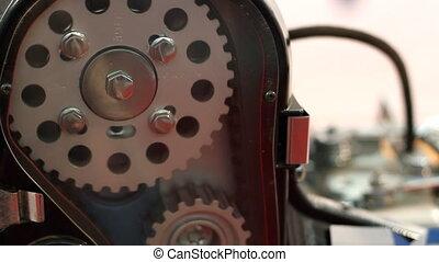 moteur, voiture, travail, détail