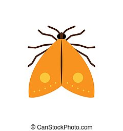 Moth butterfly insect single flat vector icon