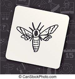 moth, doodle
