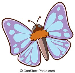 Moth flying on white background