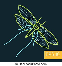 moth insect outline vector