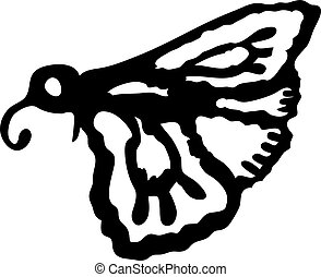 Moth, night butterfly. Insect pest moth single icon in black style vector symbol stock isometric illustration web