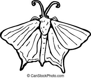 moth, spotprent