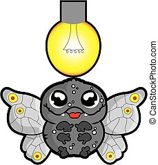 Moth - This illustration represents a cartoon moth flying ...