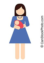 mother and baby icon. Avatar Family design. Vector graphic
