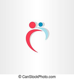 mother and baby icon vector design logo