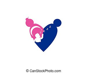 Mother and baby logo vector
