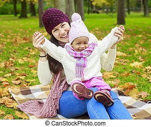 mother and baby outdoor