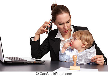 Mother and child at work series image11