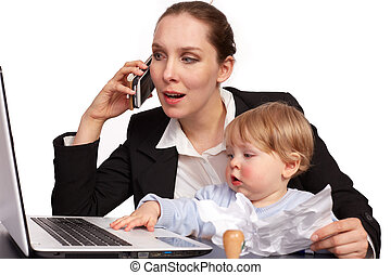 Mother and child at work series image12