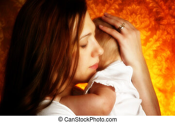 Mother and Child - Beautiful mother and child portrait.