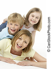 Mother And Children Happy Together