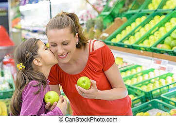 Mother and Daughter at shopping