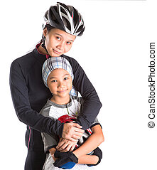 Mother and Daughter Cycling Attire
