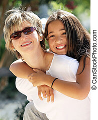 Mother and daughter - Happy mother and daughter