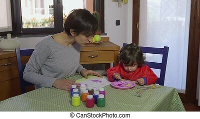 Mother And Daughter Having Fun - People, family life, fun,...