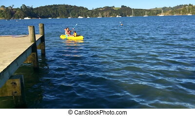 Mother And Daughter Kayaking - Mother And daughter Kayaking...