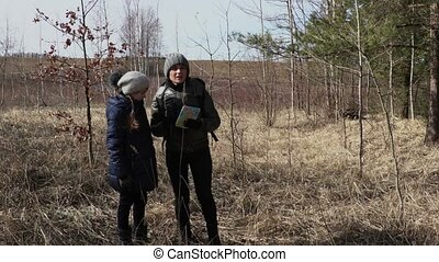 Mother and daughter try finding right way on rural path