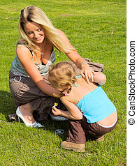 Mother and Daughter4 - Mother tickling daughter