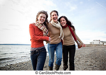 Mother and daughters - A mother having fun with her ...