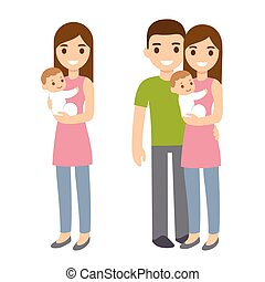 Mother and father with baby