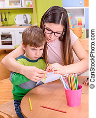 Mother and Son Creative Activities
