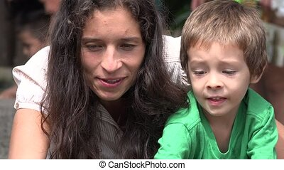 Mother And Toddler Son