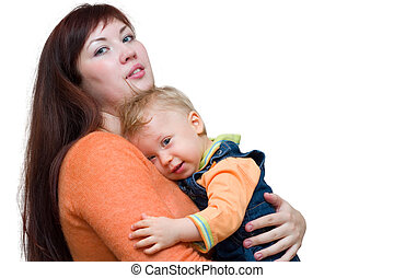 mother and toddler - young mother and her little son. ...