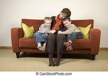 Mother And Two Sons 4