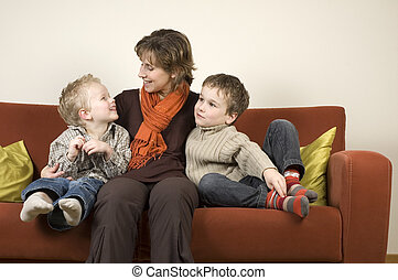 Mother And Two Sons 7
