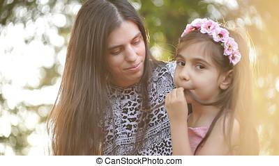 Mother Asking Daughter - Mother asking daughter and making...