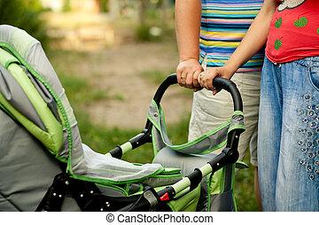 Mother Baby Stroller Bike