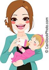 Mother Bottle Milk