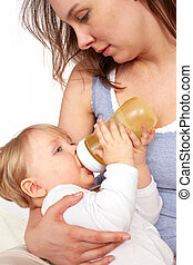 Mother breastfeeding her child