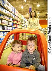 mother child supermarket