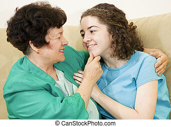 Mother Daughter Affection