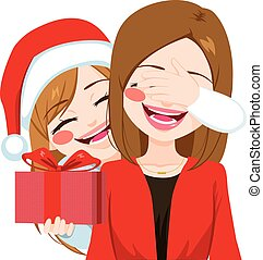 Mother Daughter Christmas Gift Giving