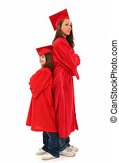 Mother Daughter Graduation Portrait - Attractive 7 year old ...