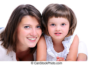 Mother & Daughter - A portrait of a mother and her baby girl...