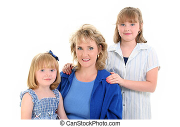 Mother Daughter - Beautiful Mother Daughter Portrait over...