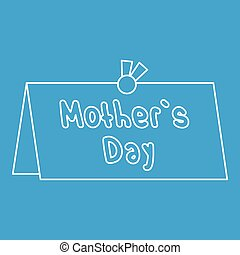 Mother Day card icon, outline style